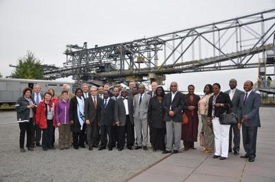 Afrikanische Botschafter im Lausitzer Braunkohletagebau