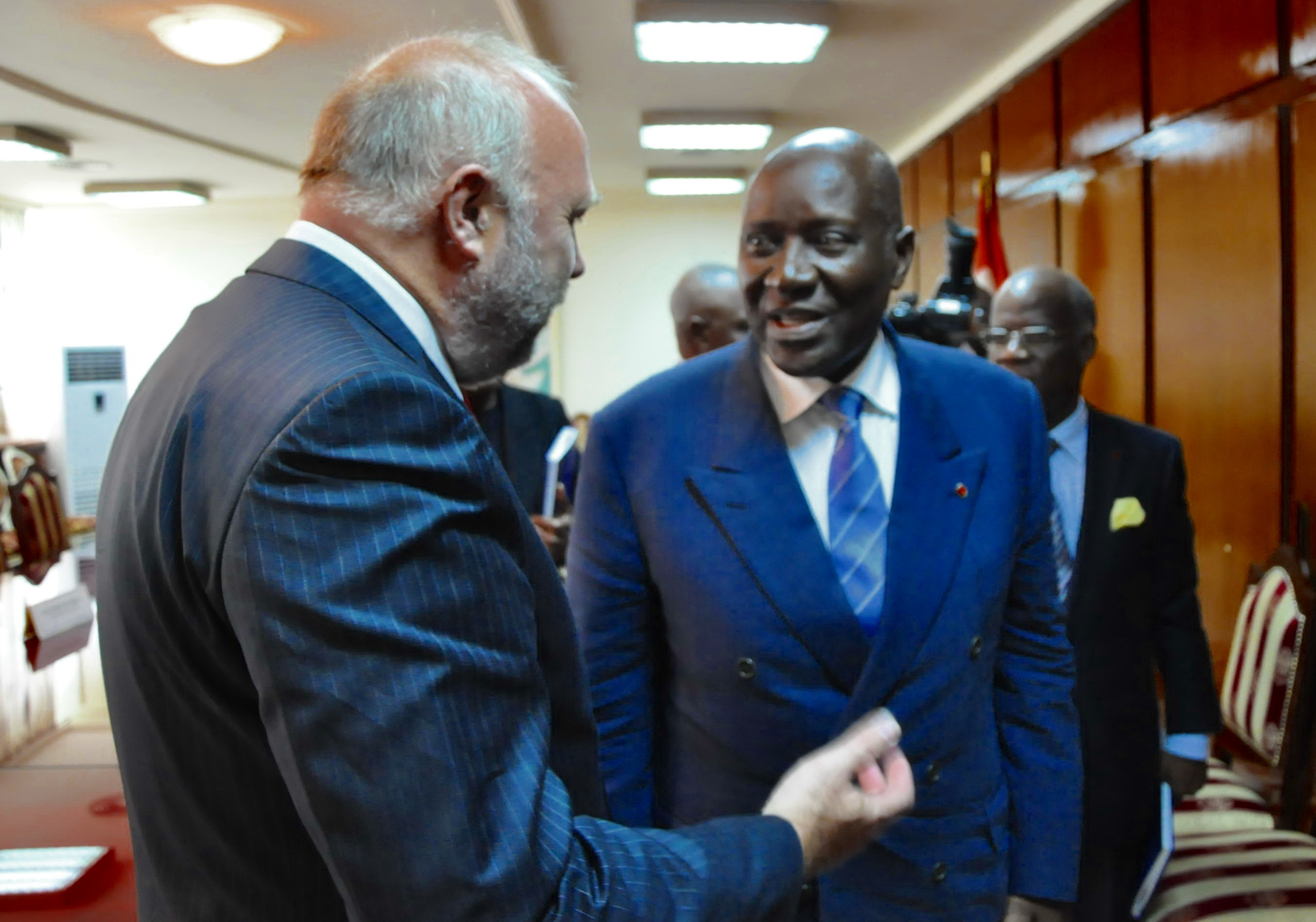 Günter Nooke Afrikabeauftragter mit ivorischen Aussenminister Kablan Duncan im Gespräch