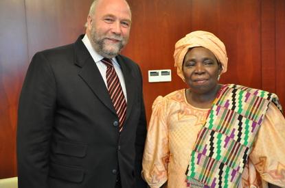Afrikabeauftragter Günter Nooke trifft Dlamini Zuma