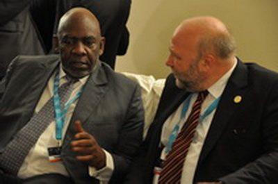 Afrikabeauftragter Günter Nooke mit malischen Premierminister Cheick Modibo Diarra
