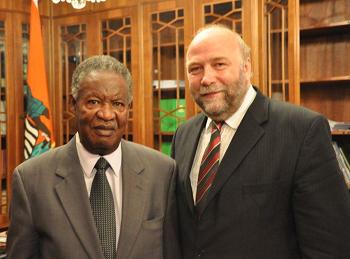 Günter Nooke mit Sambia Staatspräsident Michael Sata