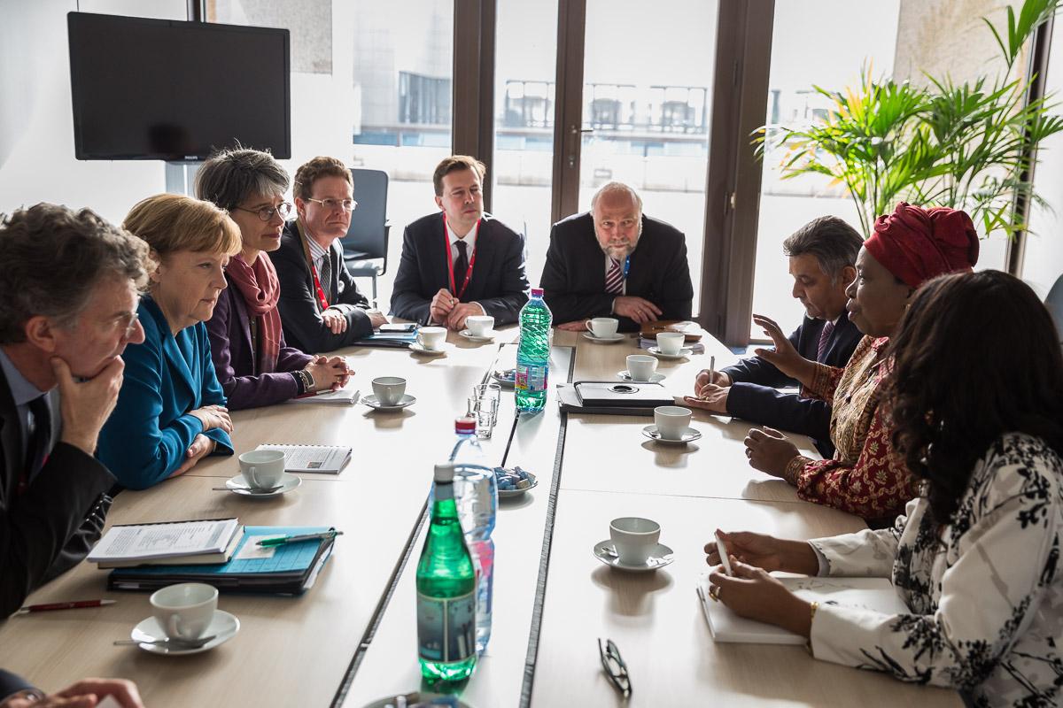 2014 EU Afrika Gipfel Günter Nooke und Angela Merkel