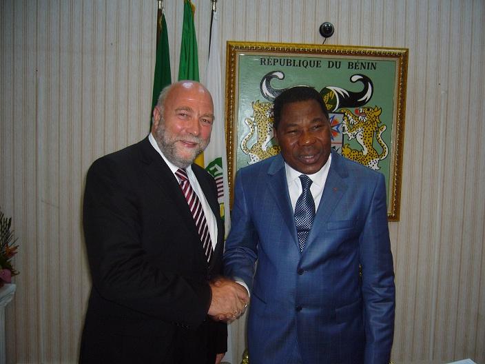 Afrikabeauftragter Günter Nooke mit dem beninischen Staatspräsidenten Yay