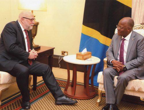 Der Persönliche Afrikabeautragte der Bundeskanzlerin Günter Nooke trifft den Präsidenten der Vereinigte Republik Tansania John Magufuli